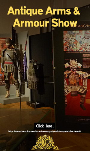 Image of An Exhibition Hall Which Portrays Antique Samurai Collections and Armours