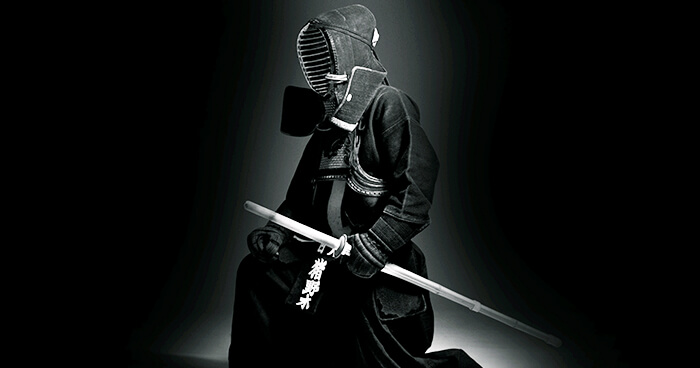 Image of A Japanese Samurai With Sword